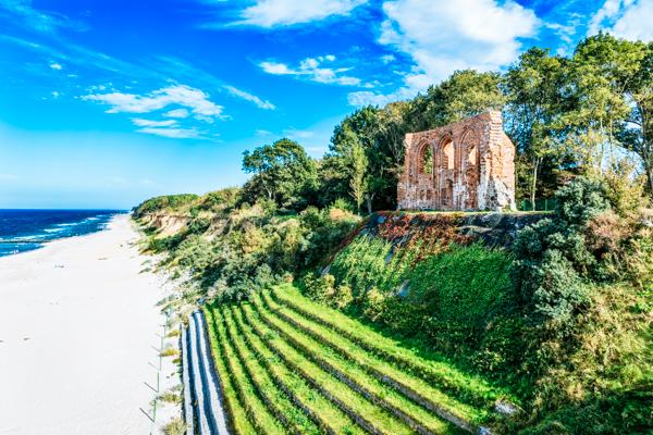 Ruine Trzesacz Polnische Ostsee