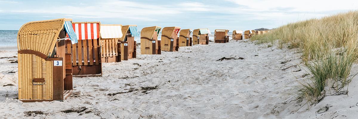 Strandkörbe Polnische Ostsee