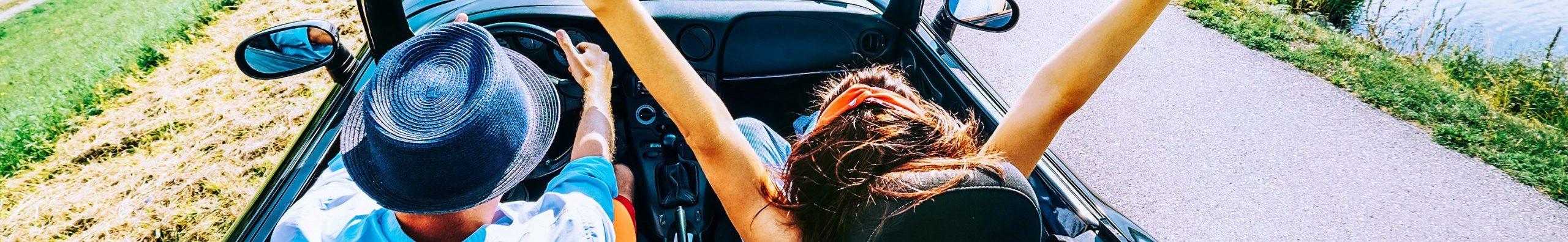 Fahrt im Cabrio