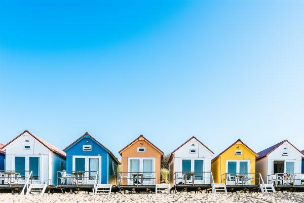 Strandhütten in den Niederlanden