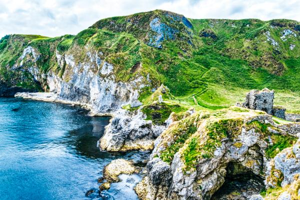 Kinbane Castle und Meereshöhlen, GoT-Drehorte