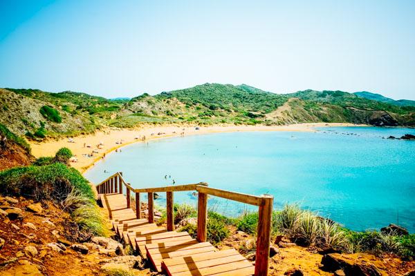 Strand von Menorca - Familienurlaub auf den Balearen