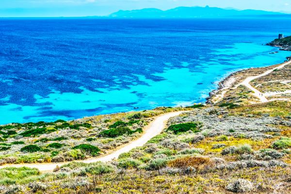 Strand auf Sardinien - Motorradreisen