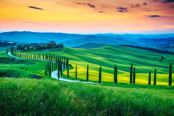 Landschaft in der Toskana - Motorradreisen