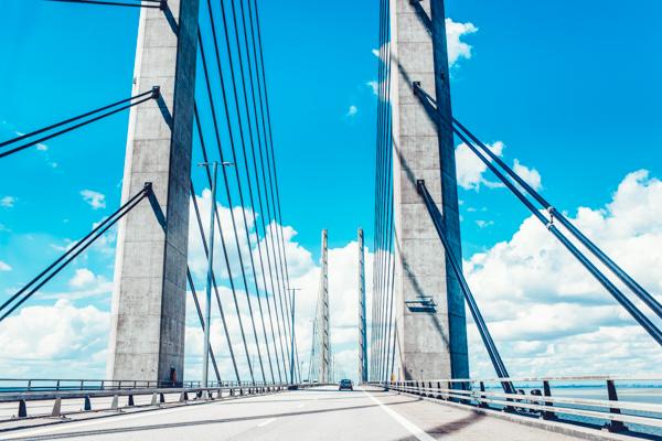 Öresundbrücke in Dänemark