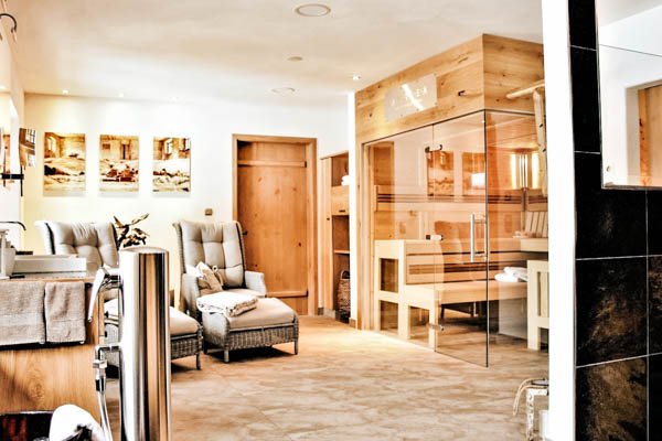 Privater Spa-Bereich im Chalet Mussea