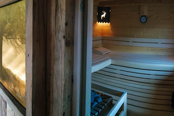 Sauna im Chalet Alpengruss