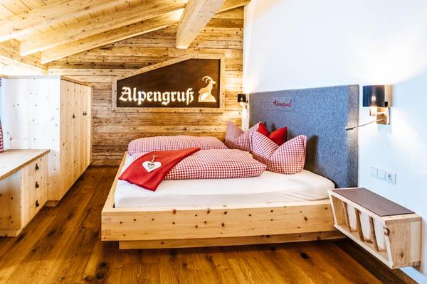 Schlafzimmer im Chalet Alpengruss