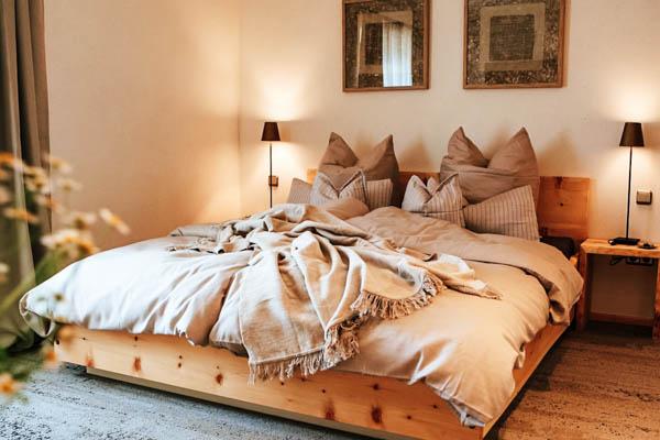 Schlafzimmer im Chalet Mussea