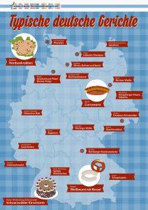 Deutschlandkarte - Kulinarische Reise durch Deutschland