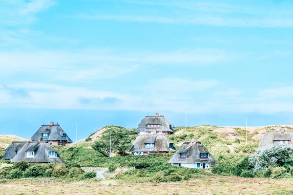 Friesische Reetdachhäuser auf Sylt