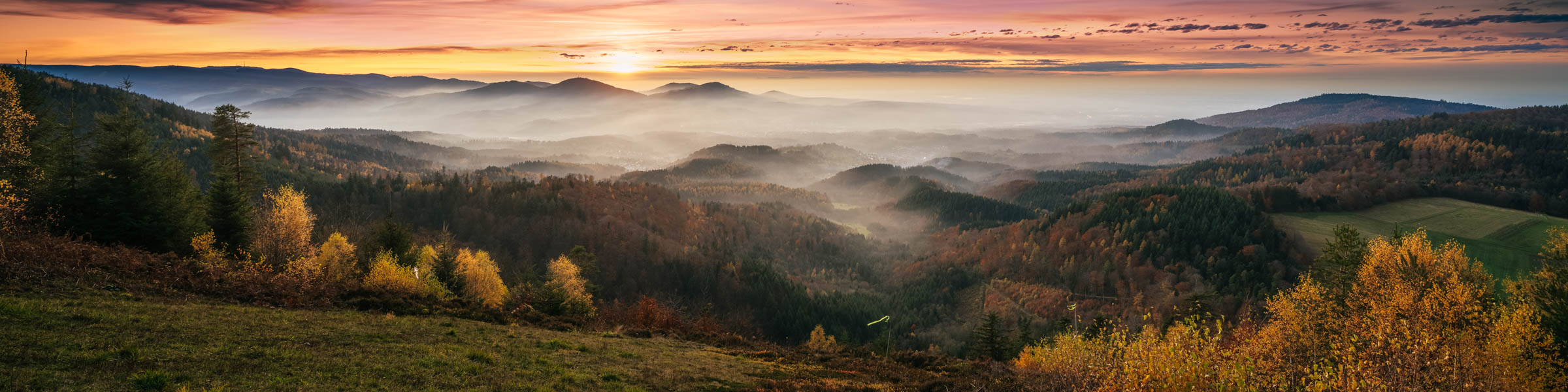 Schwarzwald-Panorama im Sonnenuntergang