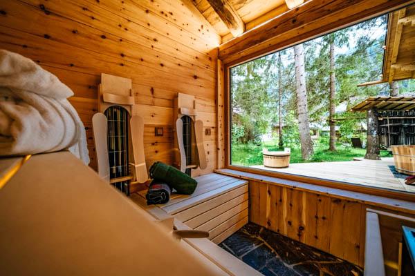 Sauna in der Berghütte Wildererhütte
