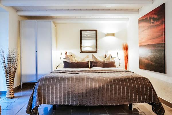 Schlafzimmer im Ferienhaus an der Lay