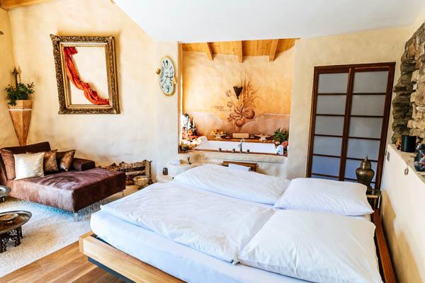 Schlafzimmer Luxus-Villa Wörthsee
