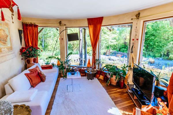 Wohnzimmer in der Luxus-Villa Wörthsee