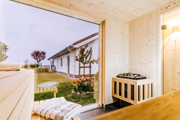Sauna im Seepark Ferienhaus Rügen