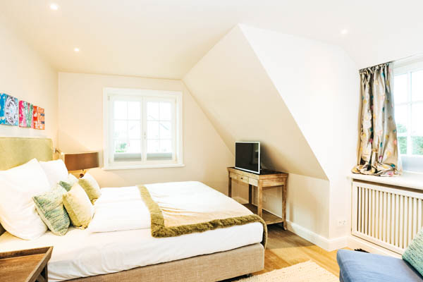 Schlafzimmmer im Ferienhaus Sylt Relais Blue
