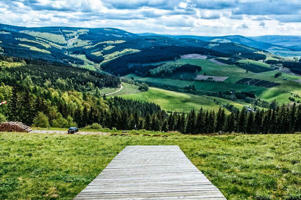 Ausblick von der Villa 7 Winterberg aus