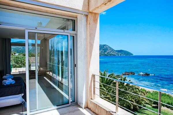 Private Terrasse mit Meerblick in der Villa Sal de Mar