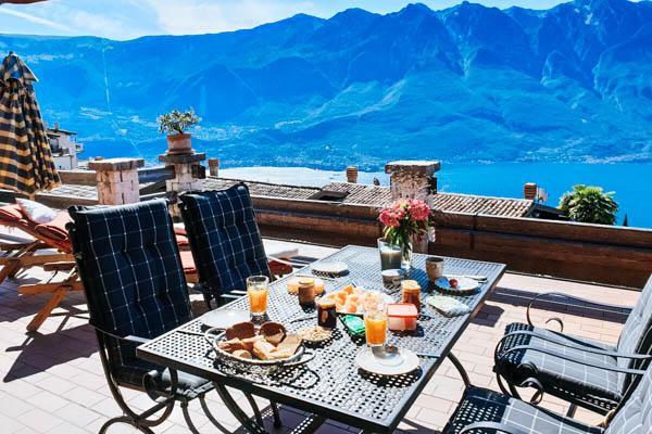 Blick vom Balkon im Ferienhaus Casa Sira