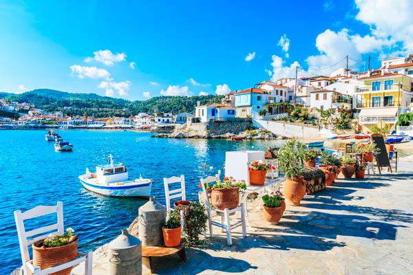 Griechische Inseln – Blick auf den Hafen
