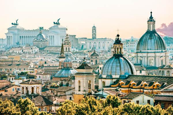 Skyline von Rom - Herbst-Reiseziele