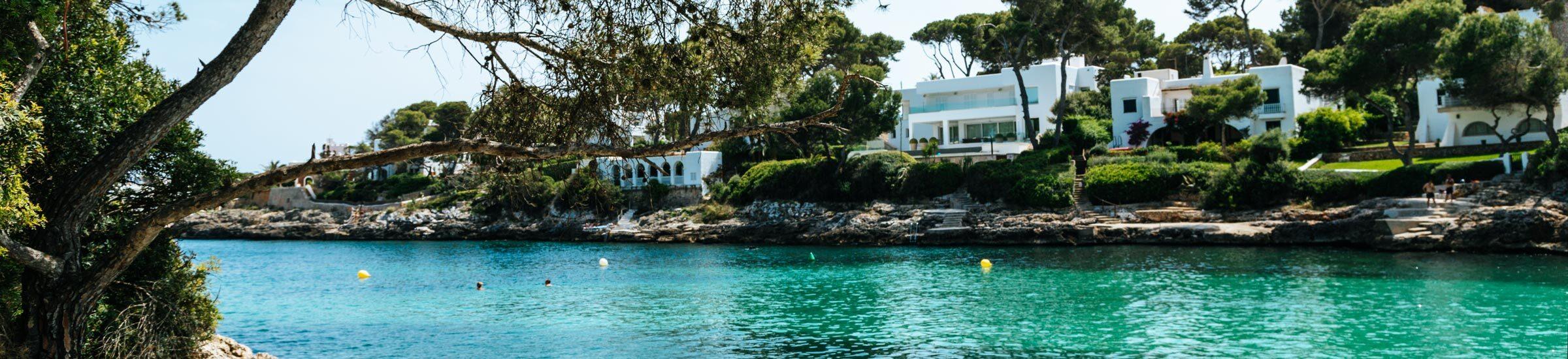 Der Blick auf die Bucht Cala Petita