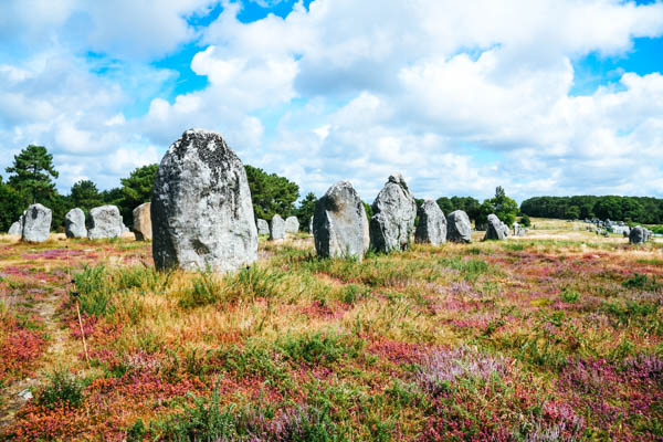 Steinreihen von Carnac in der Bretagne