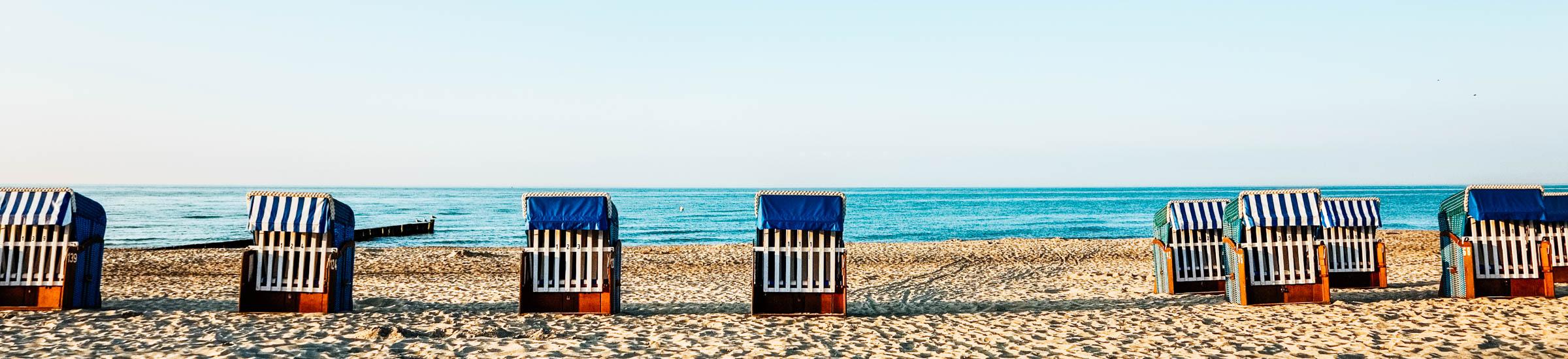 Strandkörbe an der Ostsee - Reisetipps Ostsee
